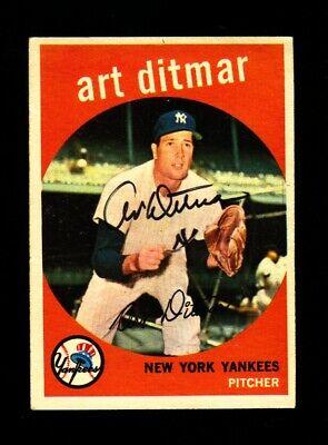 1959 TOPPS ART DITMAR #374 YANKEES SIGNED AUTOGRAPH PERIOD