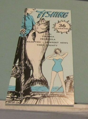 1962 Lower Virginia Peninsula Fishing Directory 36 Varieties Hampton Newport New