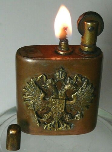 Signed Lighter Imperial Russia 1915 Bronze Copper Double Eagle