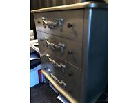 Ornate Silver Chest of Drawers