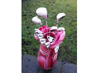 PRICE DOWN!! Ladies Golf Clubs (Almost New !!) with Callaway Bag & Trolley
