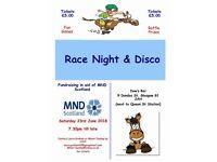 MND Scotland Race Night and Raffle!