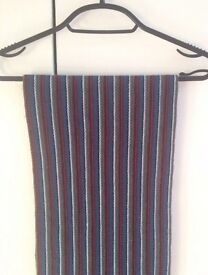 Men's Striped Woollen Scarf
