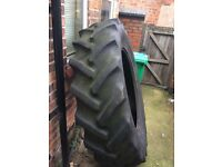 Giant tractor tyre