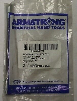 "Armstrong S10929 1/4"" Drive x 6"" Flex Extension USA"