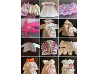 Big bundle joblot of girls 3-6 months clothes