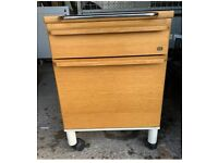 KINNARPS Filing Cabinet 2 Drawers 1980's Oak Wood Office Home Storage