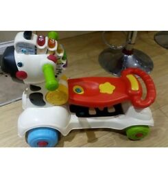 Vtech 3 in 1 zebra walker scooter and ride on