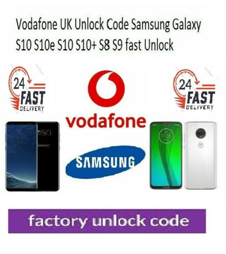 Unlock Code Service Samsung S6 EDGE S7 EDGE S8 PLUS Vodafone UK network only