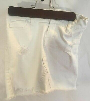 Abercrombie Kids Girls 7/8 White Jean Midi Shorts