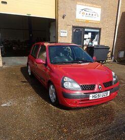 2002 Renault Clio 1.5 dci - £30 Road Tax - 9 months mot
