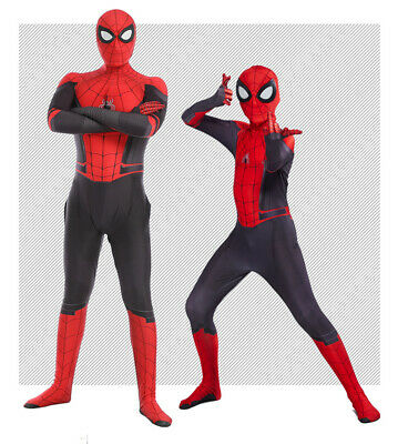 US! Spider-Man Far From Home Cosplay Costume Spiderman Zentai Suit For Kids - Children Spider Costume
