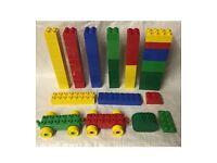 Lego genuine duplo - 67 pieces bricks blocks train parts