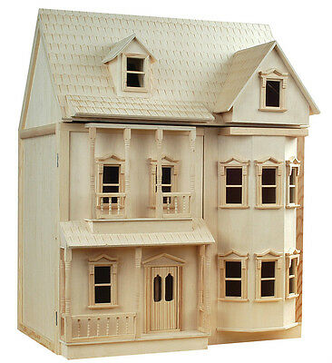Victorian Dollshouse 1/12th Scale ASHBURTON Dolls House DH001 With Bay Fronts