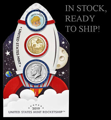 2019 US Mint Rocketship - Glows in the Dark - Limited Mintage of 50K - IN HAND!