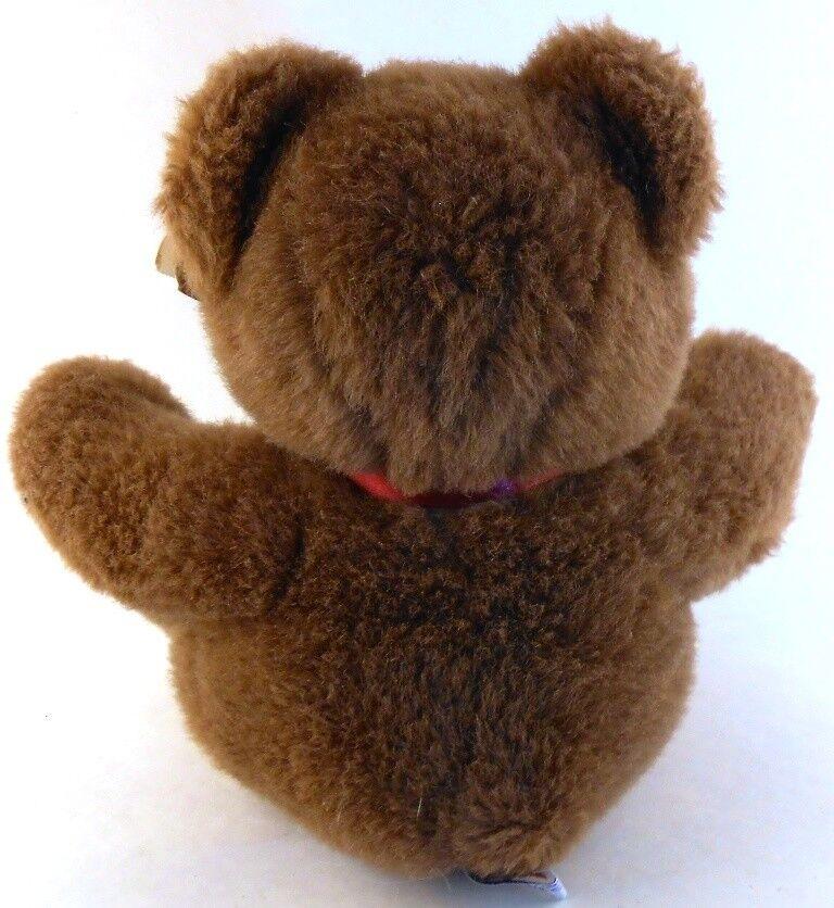 Mary Meyer KINGSLEY Brown Soft Teddy Bear Stuffed Plush With Tags 1990  - $19.79