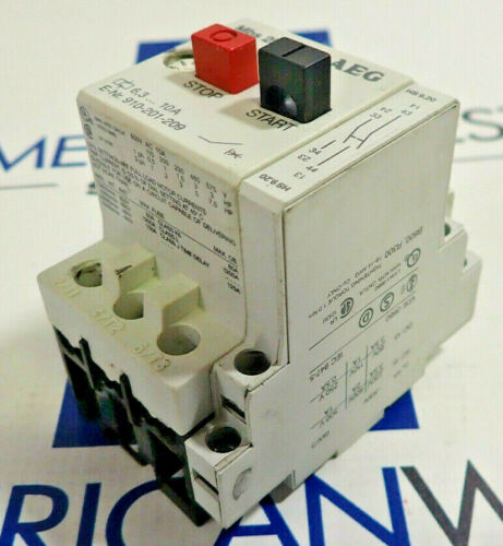 AEG 910-201-209 Manual Motor Starter Mbs 25 6.3-10A *USED