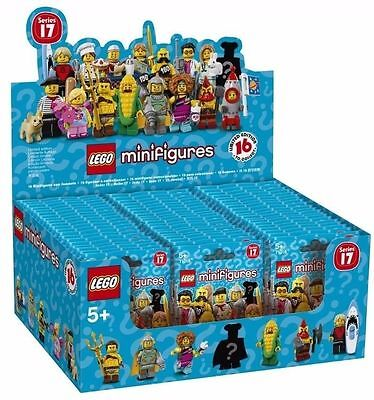 LEGO SERIES 17 CASE 60 MINIFIGURES PACKS PACK SEALED BROWN BOX 71018