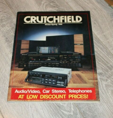 Vintage Crutchfield Electronics Catalog Winter-Spring  1988