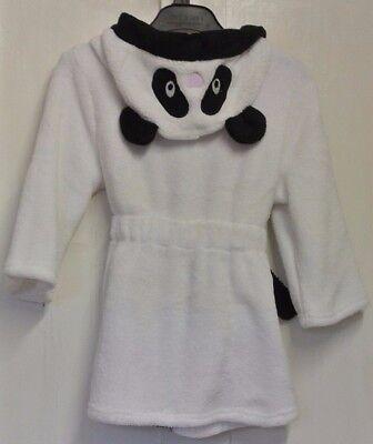 New boys/girls Panda dressing gown White/Black 18-24 months