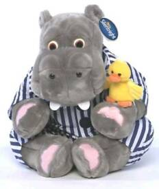 "10"" Hippo and Duck Cuddly Toy"