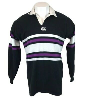 Vintage New Zealand Rugby Shirt Long Sleeve Black Purple Canterbury XL Mens