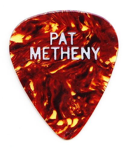 Vintage Pat Metheny Signature Single-Sided Brown Guitar Pick - 1980s Tours