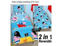 Kids single bedding new