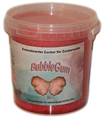 1 Kg Farbomazucker BubbleGum Zucker für Zuckerwattemaschine Zuckerwatte Rosa