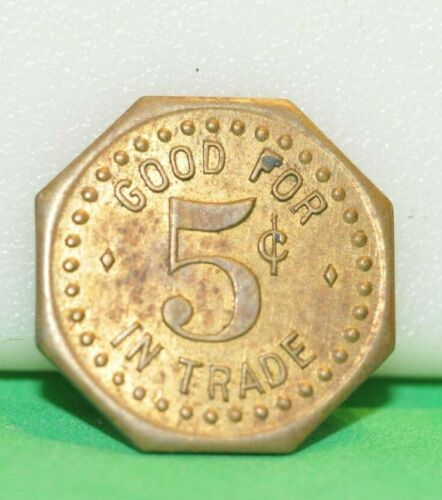 G. Harms Good for 5c in Trade Vintage Token