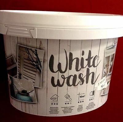 Kreidefarbe Shabby Chic Holz Antiklook Möbelfarbe Farbe White wash 1kg 1L Trendy