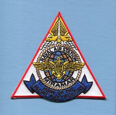 NAS NAVAL AIR STATION MIRAMAR CA US Navy Fighter Squadron Base Jacket Patch