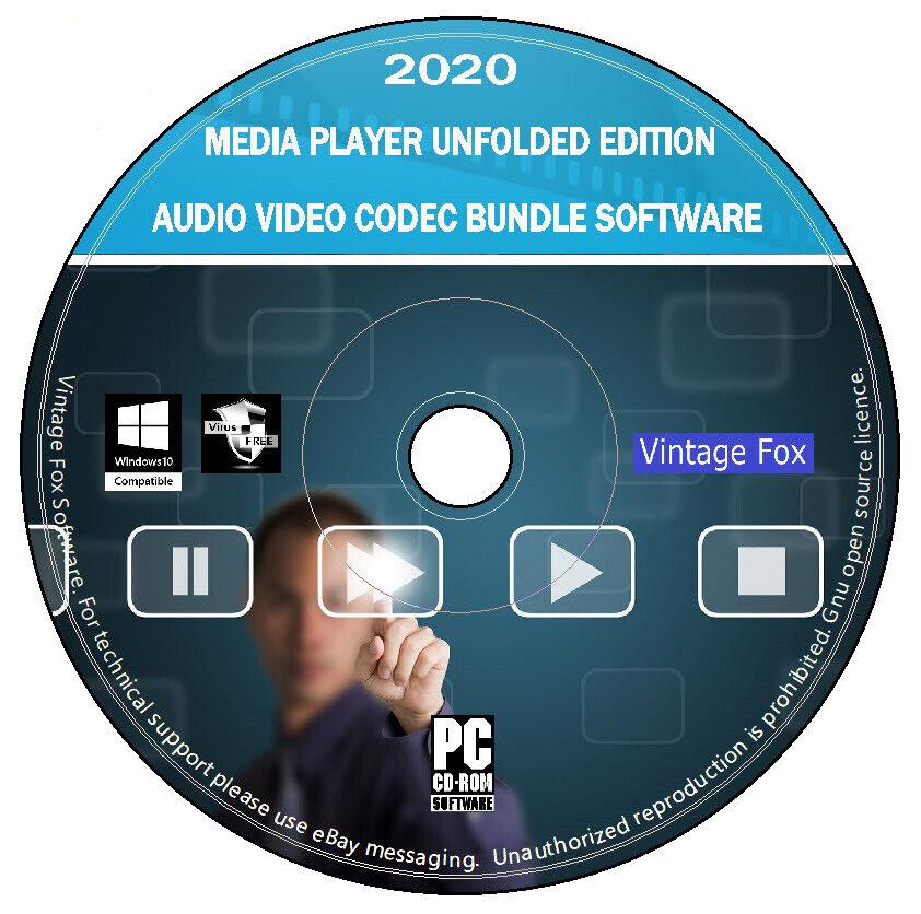 Media Player Audio Video Codec Bundle - Unfolded Edition Software PC DVD