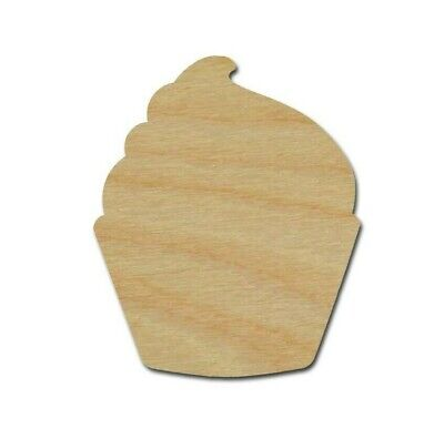 Cupcake Shape Unfinished Wood Cutouts DIY Crafts Variety of Sizes  - Diy Wood Crafts