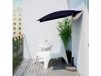 Black Garden Parasol/ Umbrella