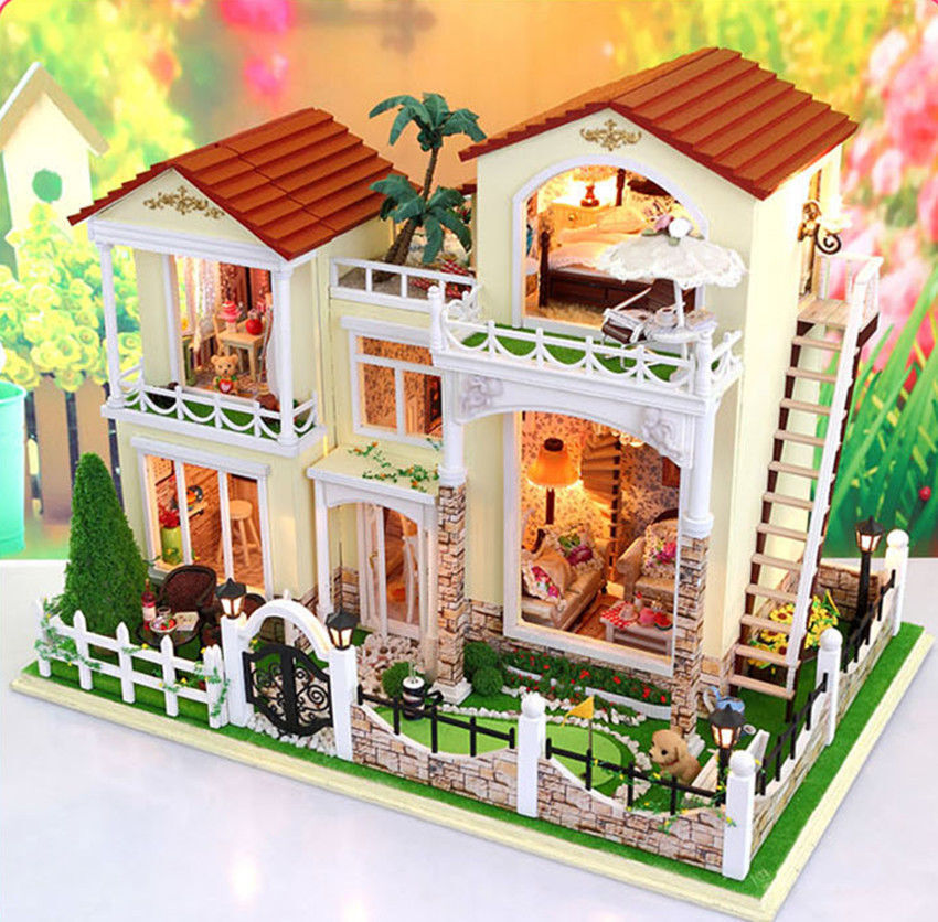 How to build a dollhouse kit ebay for Kits for building a house