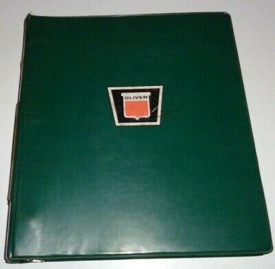 Oliver 1750 Tractor Parts Catalog Manual Book In Dealers 3-ring Binder Original