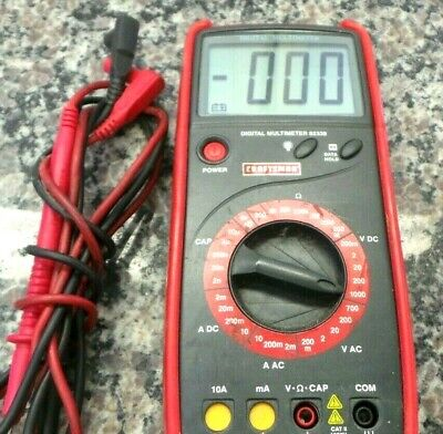 Craftsman 82339 Digital Multimeter Dnt846 Loc. W-18