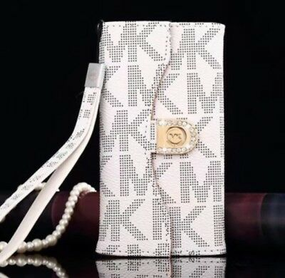 Michael Kors Trifold Wallet Case fits iPhone 7 Plus or iPhone 8 Plus - White