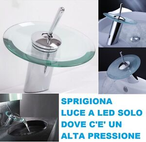 Led rubinetto bagno lavabo cascata rubinetti led bagno miscelatore bagno cascata ebay - Rubinetteria a cascata bagno ...