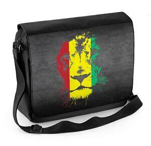 Lion Of Judah Rasta Colours Reggae Laptop Messenger Bag - Bob Marley