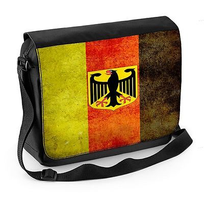 German Eagle Flag Laptop Messenger Bag - Germany Deutschland (German Flag Bag)