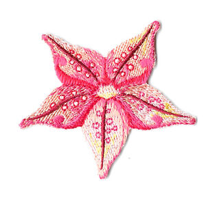 Starfish - Beach - Seashells - Summer - Embroidered Iron On Applique Patch - S