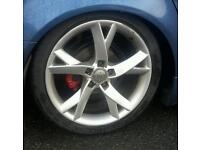 """5x112 18"""" a5s with 4 great tyres... memphis / cades / bostons / sciroccos etc"""