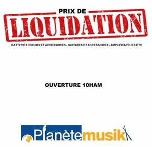 Prix de liquidation - Guitares, ukulele, amplis, accessoires - ouverture 10ham