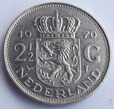 Niederlande, 2 1/2 Gulden 1970, Juliana, Nederlands Pays bas