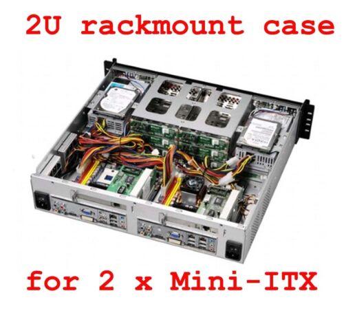 """KRI 2U CK2280 for Dual Mini-ITX MB, 8 x 3.5/2.5"""" HDD Trays, NO PSU"""