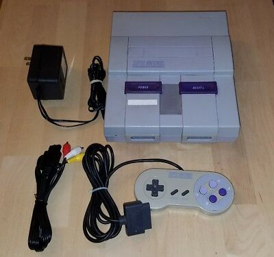 Super Nintendo SNES Game System Console W/ Hookups