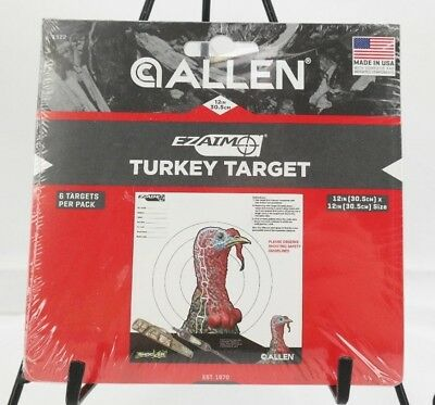 EZ Aim Turkey Paper Shooting Targets Pack of 6 Multicolor -