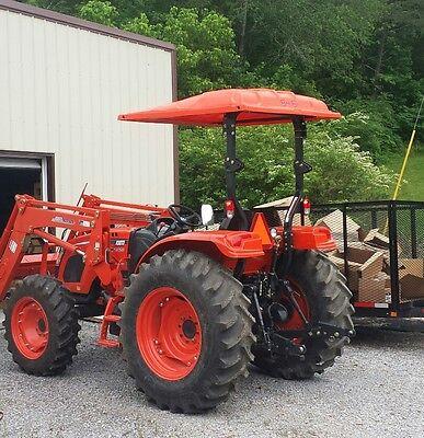 Universal Tractor Canopy Kubota Kioti Orange 60 W X 65 L Polyethylene